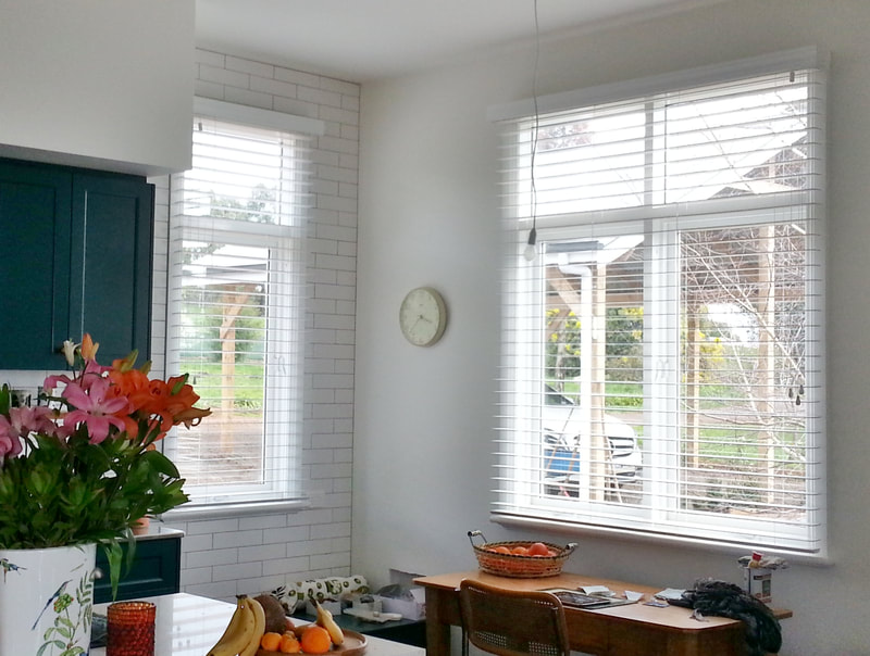 Premium Timber Venetian blinds with 63mm slats and decorative valance
